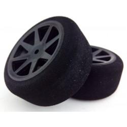 Ruedas 1/10 KYO Traseras 30mm Carbon 40 Sh (1 Par)