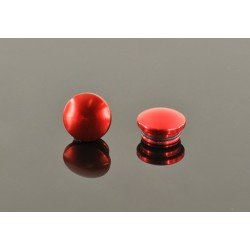 18mm Tapa De Aluminio - Roja (2 Pzas.)