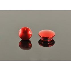 22mm Tapa De Aluminio - Roja (2 Pzas.)