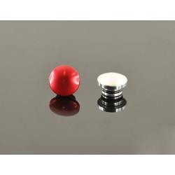 14mm Tapa De Aluminio - Roja Y Plateada (Una De Cada)