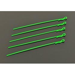 Clips Carroceria Extra Largos 1/10 - Fluorescente Verde (5)