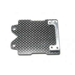 Tapa Soporte Baterias Fibra Del Carbono Con Enganche De Aluminio (Exer) (1Pz)