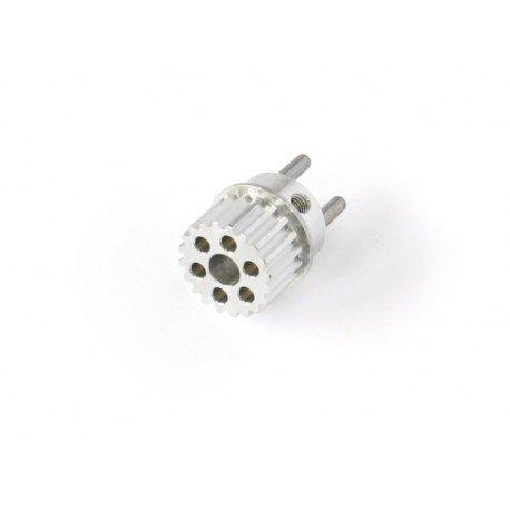 Polea de arastre correa trasera y disco de freno en una pieza - aluminio 20T (1pz)