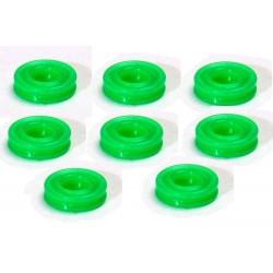 Gomas Toricas Doble Labio Para Amortiguador P3X (Verde) (8 Piezas)
