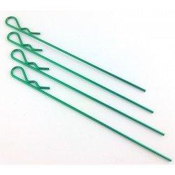 Clips carroceria 1/8 extra largo - verde - (4 Unidades)