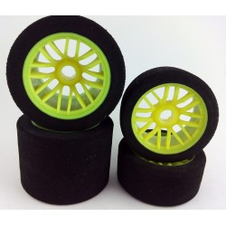 Set Wheels 1/10 235mm - Front + Rear 35sh - Serpent impact / 835 - Yellow