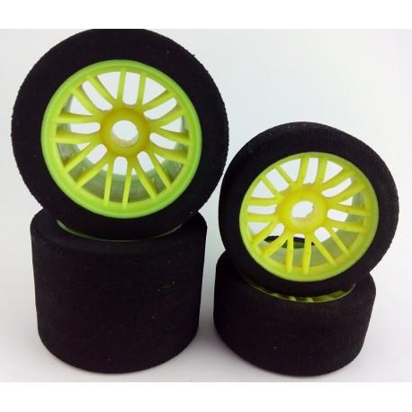 Set Wheels 1/10 235mm - Front + Rear 35sh - Serpent impact / 835 - Yellow