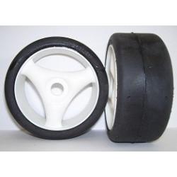 Tyres 1/8 Rally Game - Slick - Spoke 17mm (1 Pair)