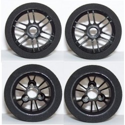 Tyres Set 1/12 Electric - Front 37Sh + Rear 35Sh - R4 Black