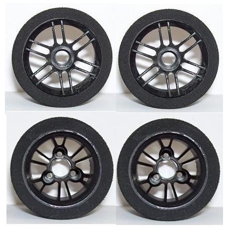 Tyres Set 1/12 Electric - Front 37Sh + Rear 35Sh - R4 Black