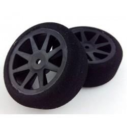 Ruedas 1/10 KYO Delanteras 26mm Carbon 30 Sh (1 Par)