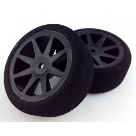 Tyres 1/10 KYO Front 26mm Carbon 30 Sh (1 Pair)