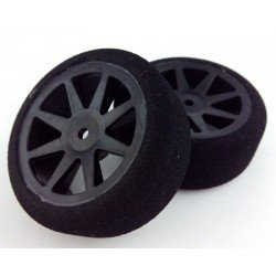 Tyres 1/10 KYO Front 26mm Carbon 40 Sh (1 Pair)