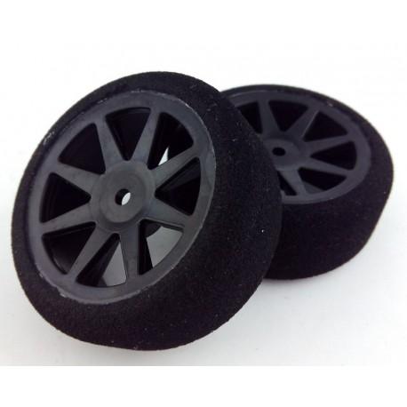 Ruedas 1/10 KYO Delanteras 26mm Carbon 40 Sh (1 Par)