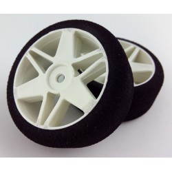 Tyres 1/10 VMR Front 26mm White 40 Sh (1 Pair)