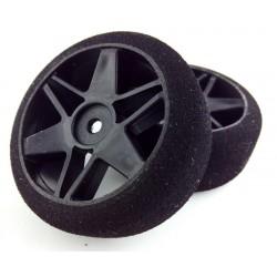 Ruedas 1/10 VMR Delanteras 26mm Carbon 40 Sh (1 Par)