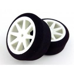 Tyres 1/10 KYO Rear 30mm White 33 Sh (1 Pair)