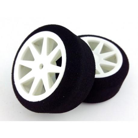 Tyres 1/10 KYO Rear 30mm White 40 Sh (1 Pair)