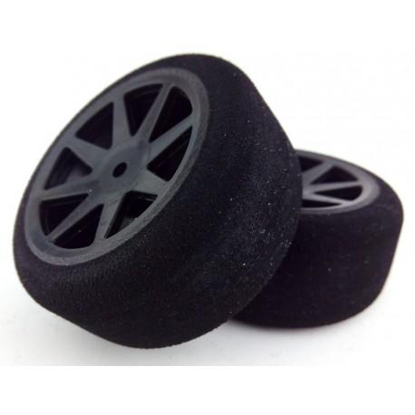 Ruedas 1/10 KYO Traseras 30mm Carbon 30 Sh (1 Par)