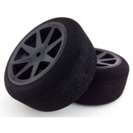 Tyres 1/10 KYO Rear 30mm Carbon 30 Sh (1 Pair)