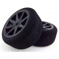Ruedas 1/10 KYO Traseras 30mm Carbon 37 Sh (1 Par)