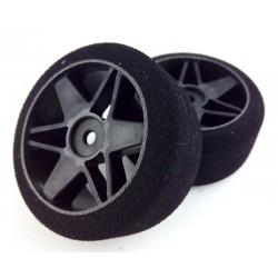 Ruedas 1/10 VMR Traseras 30mm Carbon 37 Sh (1 Par)