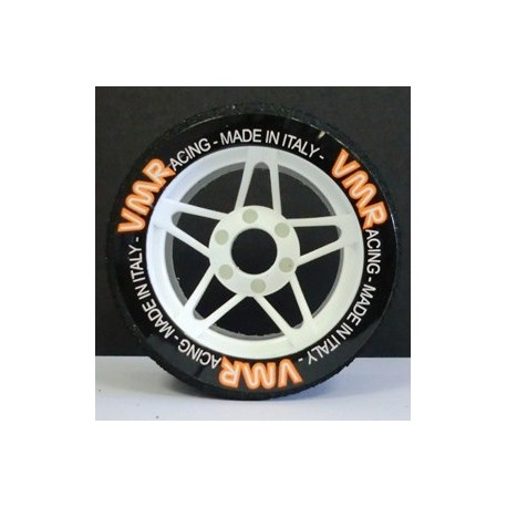 Tyres 1/8 VMR Front White 37 Sh (1 Pair)