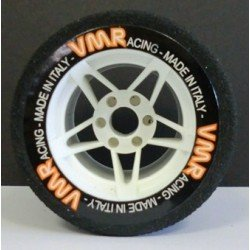 Tyres 1/8 VMR Rear White 35 Sh (1 Pair)