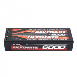 Battery Lipo Stick 7.4V. 6000 Mah 110C Double Connector 4 mm