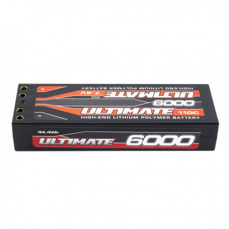 Battery Lipo Stick 7.4V. 6000 Mah 110C Double Connector 4 mm