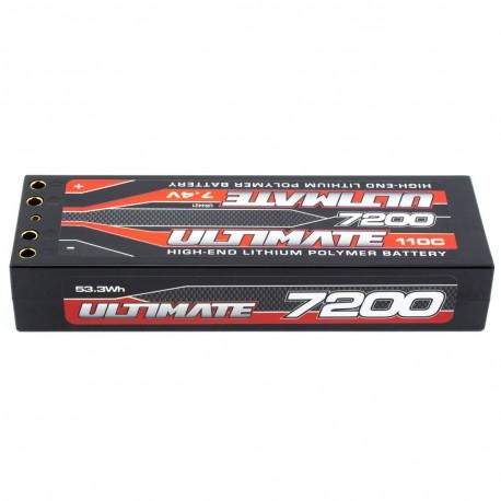 Batería Lipo Stick 7.4V. 7200 Mah 110C Doble Conexión 4 mm