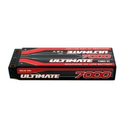 Battery Ultimate Graphene HV Lipo Stick 7.6V. 7000Mah 120C Connection 5mm