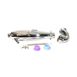 1/10 Touring Pipe Set In Polished Efra 2650 (1 Set)