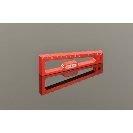 CHASSIS DROOP GAUGE -3 TO 10 MM FOR 1/8, 1/10 CARS (20 MM)
