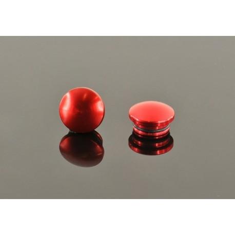18MM ALUMINUM END CAP - RED (2)
