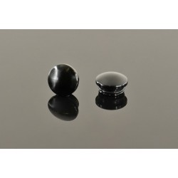 18mm Aluminum End Cap - Black (2)