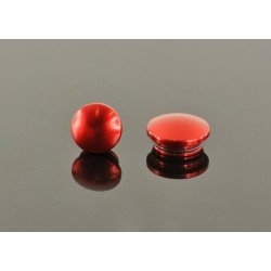 22mm Aluminum End Cap - Red (2)