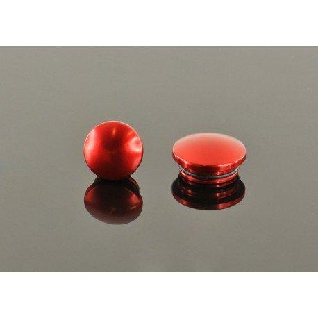 22MM ALUMINUM END CAP - RED (2)