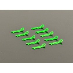Small Body Clip 1/10 - Fluorescent Green (10)