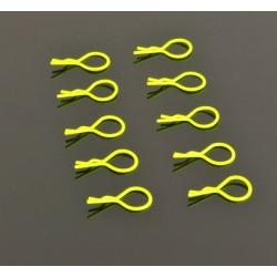 Clips Carroceria Aro Grande 1/10 - Fluorescente Amarillo (10)