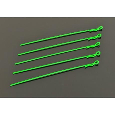 EXTRA LONG BODY CLIP 1/10 - FLUORESCENT GREEN (5)
