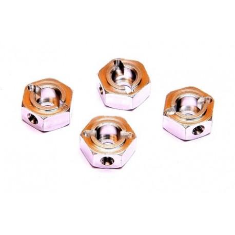Exagonos de rueda Aluminio (4pzs)