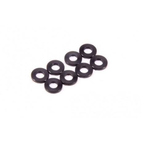 Arandelas negras amortiguador (8pcs)
