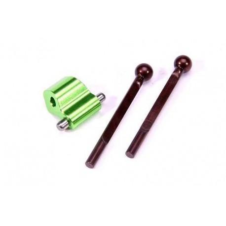 Barra estabilizadora trasera regulable y soporte (1 set)
