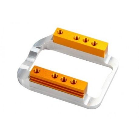Soporte de motor regulable de una pieza + bases + tornillos 3x10 8pcs (1 set)