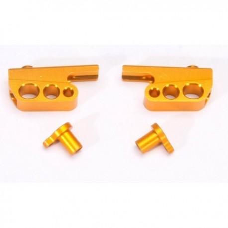 Alu. Front Anti-Roll Bar Holder + Adjustable Arm (CNC) (1 set)