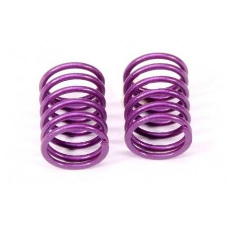 Front Damper Spring 1.7mm (Purple/S) (2pcs)