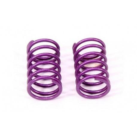 Muelles de amortiguador trasero 1.7mm (púrpura / L) (2pzs)