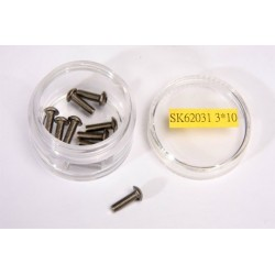 Titanium Button Head Screw 3X10 (10Pcs)