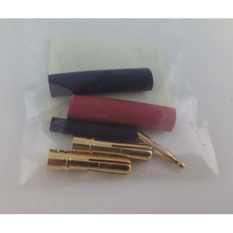 Conectores banana 4mm + conector balanceador (con aislante retractil)